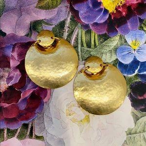 Kenneth Jay Lane Gold Statement Earrings